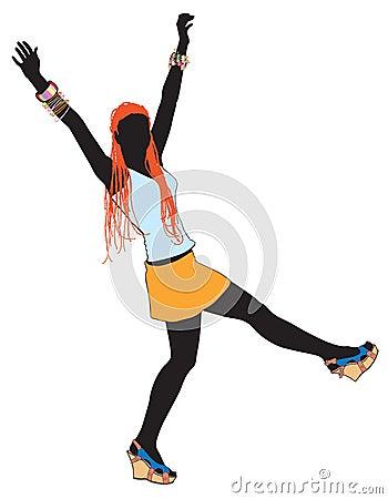 Girl dancing 4