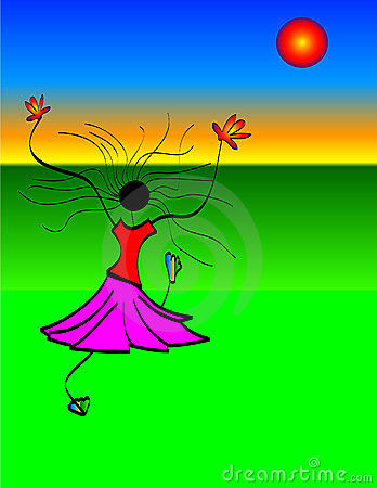 Girl Dancing in Sun