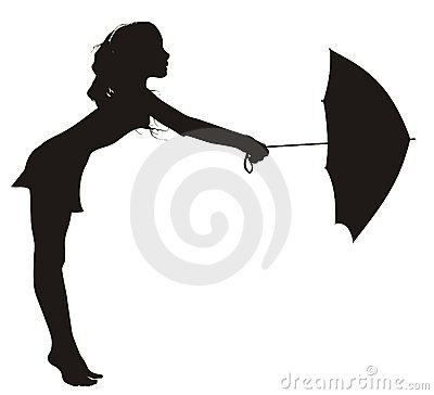 Free Girl Dancing With Umbrella Royalty Free Stock Image - 5797976