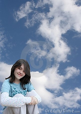 Free Girl Daydreaming Stock Photography - 8219132