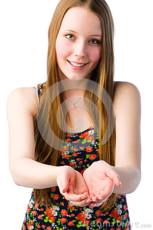 Girl demonstrate