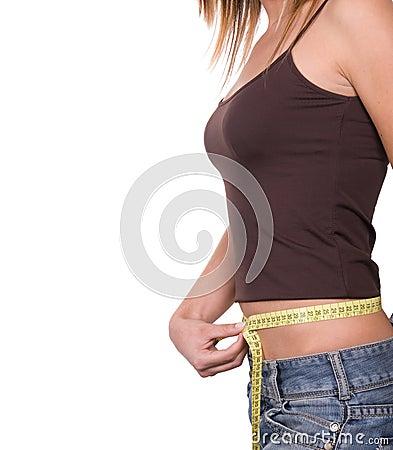 Girl on diet