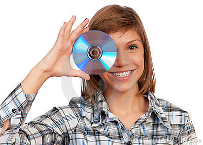 Girl with disc