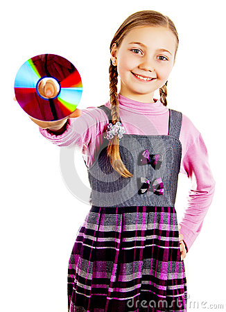Girl with a disk in her hand