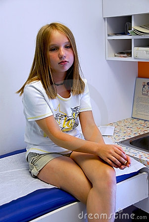 Girl doctor office