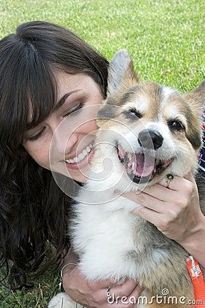 Free Girl Dog Royalty Free Stock Images - 825589