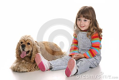 Girl and dog