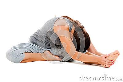 Girl doing flexibility exercise