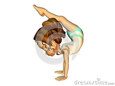 Girl Doing Gymnastics Royalty Free Stock Photography - Image: 7880097