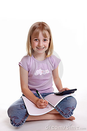 Girl doing Homework 2