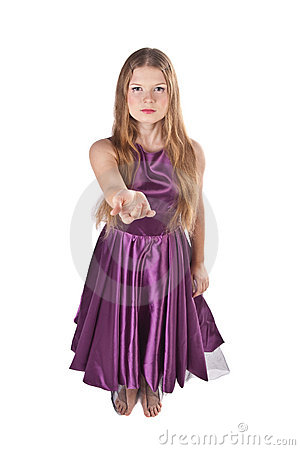 Girl Doing An Invite Gesture Stock Photo - Image: 11733920