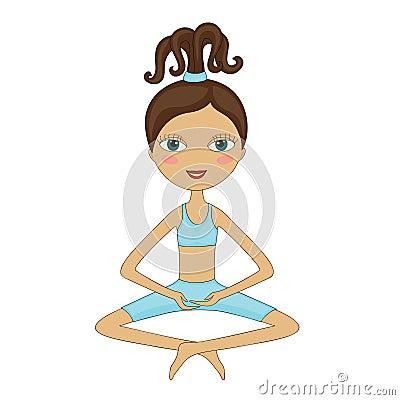 Girl, doing yoga