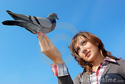 Girl and the dove