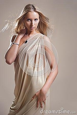 Girl in the drapery