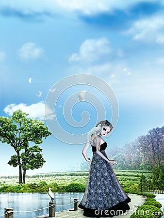 Girl in dreamland
