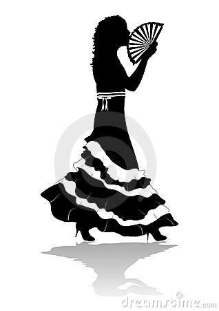Girl in Dress Silhouette