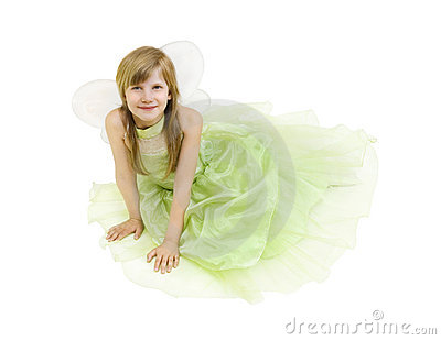 Girl dressed as a fairy