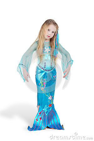 Girl dressed as mermaid