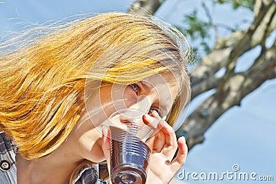 Girl drinking good coffee