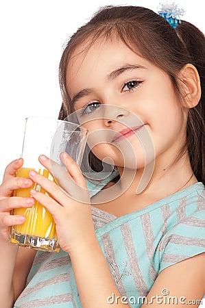 Free Girl Drinking Juice Stock Photos - 18374493