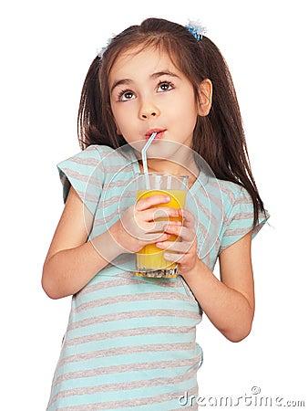 Free Girl Drinking Juice Stock Photography - 18529882