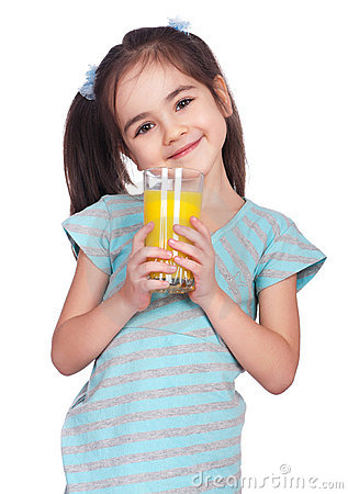Free Girl Drinking Juice Stock Image - 18727951
