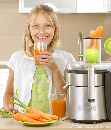Free Girl Drinking Juice Royalty Free Stock Photography - 20332507