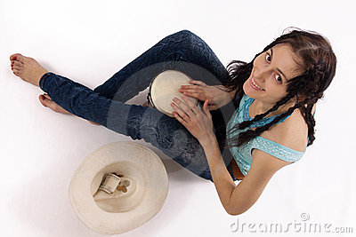 Girl with drum