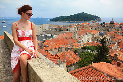 Girl in Dubrovnik