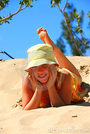 Girl dunes