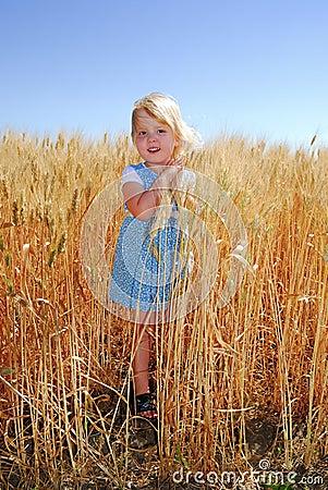 Girl in Durum Wheat Field