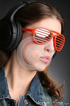 Girl in earphone
