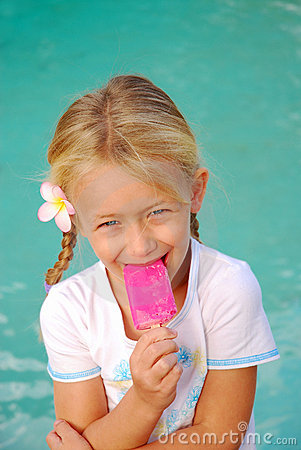Free Girl Eating Ice-cream Royalty Free Stock Photos - 5049808