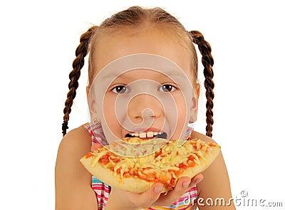 Girl Eating Pizza Royalty Free Stock Photo - Image: 19032005  Girl