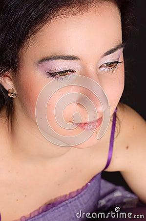 Girl with elegant makeup