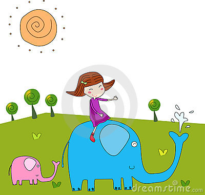 The girl and the elephant