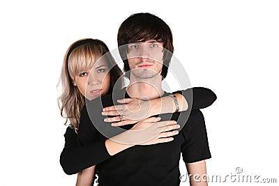 Girl embraces fellow