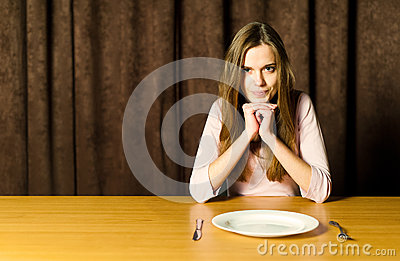 Girl with empty plate