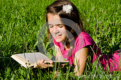 Girl enjoy reading