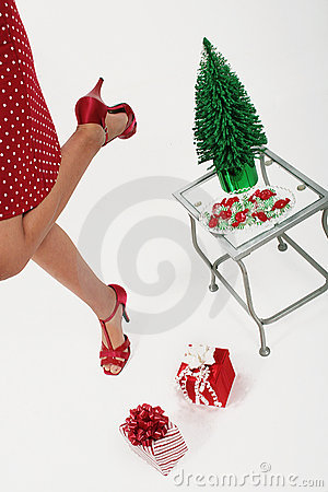 Girl enjoying Christmas