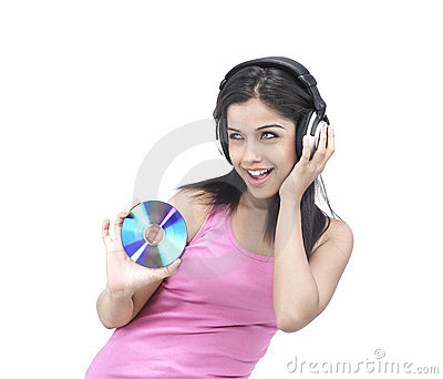 Girl enjoying music