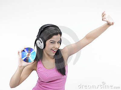 Girl Enjoying Music Royalty Free Stock Images - Image: 7140949