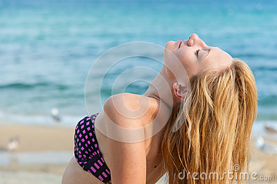 Girl Enjoying the Sea
