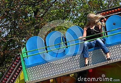 Girl in entertainment park