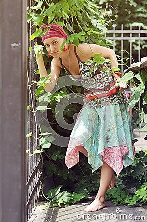 Girl in ethnic clothing
