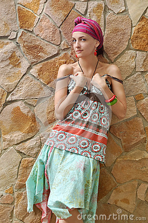 Girl in ethnic clothing