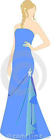Girl in evening dress
