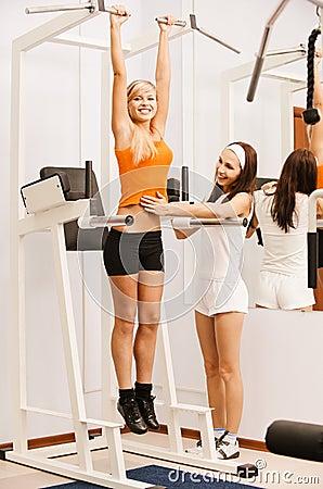 Girl exercising on VKR
