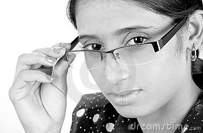 Girl with eye glasses