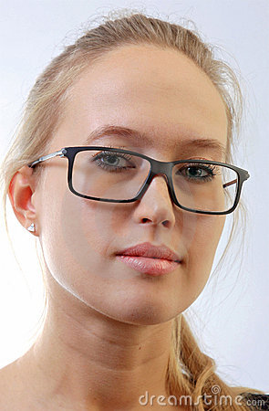 Girl in eyeglasses.